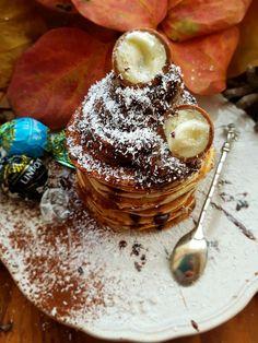 PANCAKE AL COCCO CON MOUSSE DI CIOCCOLATO ricetta healthy   ❤MARTY FOODGIRL ❤