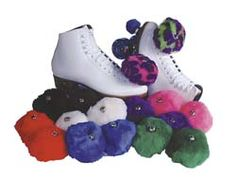 Roller Skates with pom poms!