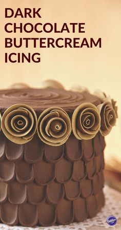 Dark Chocolate Buttercream Icing Recipe - We've intensified the flavor to make Dark Chocolate Buttercream Icing an amazing way to finish your cakes and cupcakes!