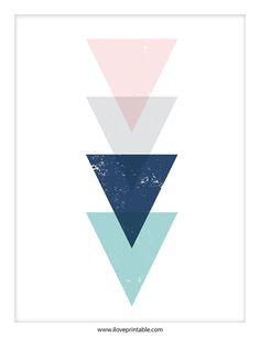 Art abstrait Triangle estampes Art pariétal par ILovePrintable