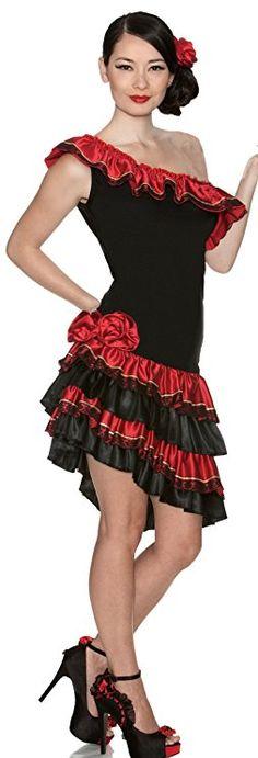 Delicious Caliente Costume, Black/Red, Small