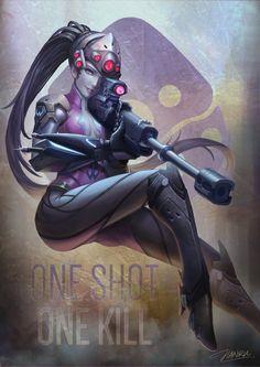 One shot. One kill. - http://jianrutam.deviantart.com/art/Widowmaker-Overwatch-Fanart-649665559