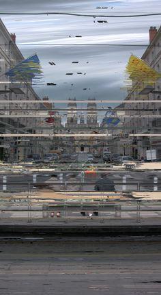 47.9013 1.9027 [2010-04-30T16:45:53/18:51:07], de la série Chronoscopies, image numérique, 2010. Station de tramway De Gaulle à Orléans (France) le 30 avril 2010 de 16:45:53 à 18:51:07.