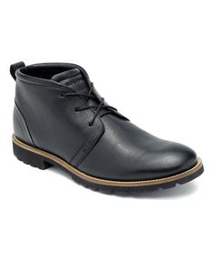 Black Charson Leather Boot - Men