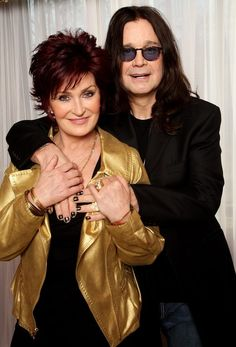 Sharon Osbourne Photos - (UK TABLOID NEWSPAPERS OUT) Sharon and Ozzy Osbourne pose for a portrait prior to hosting this year's BRIT Awards tomorrow at the Dorchester Hotel on February 2008 in London, England. - Ozzy And Sharon Osbourne Photocall Hollywood Couples, Celebrity Couples, Celebrity Weddings, Ozzy And Sharon Osbourne, Ozzy Osbourne, Famous Celebrities, Celebs, Famous Couples, Black Sabbath