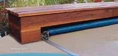 ECLIPSE Deckmount Cover System ~ Redwood Bench Deckmount by COVERSTAR POOL SAFETY COVER, via Flickr
