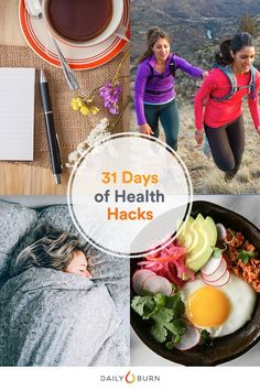 Small changes can indeed lead to big results. And we've got 31 easy health hacks to make each day a little fitter than the one before. It's time to make that healthy lifestyle stick! #healthhacks via @dailyburn