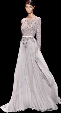 Into my darkest vision she walked like a heavenly light. Ellie Saab - Haute Couture / Fall Winter 2013 - 2014 Seriously, I'm in love. Style Haute Couture, Couture Fashion, Runway Fashion, Beautiful Gowns, Beautiful Outfits, Costume, Couture Dresses, Dream Dress, Pretty Dresses