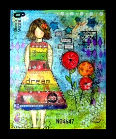 mixed media word art collage | Posted by Paulette at 11:11 PM