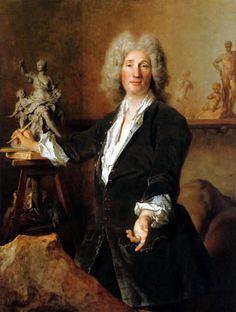 The Sculptor Nicolas Coustou, 1711, by Nicolas de Largillière