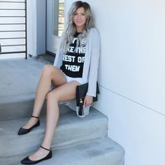 styled by blogger Candice Stubblefield // DON'T BE LIKE THE REST OF THEM // christian t-shirt // $27 available now at basics-nyc.com