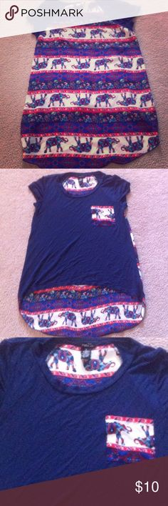 Elephant High Low Tee Elephant design parts is silk like material Rue 21 Tops Tees - Short Sleeve