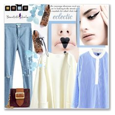 """Blues and prints"" by wannanna ❤ liked on Polyvore featuring moda, Burberry, Garance Doré y bhalo1"