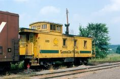 picture of Lamoille Valley Railroad Caboose No. 100 at Morrisville, VT