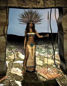 Mininessie´s art gallery: Aztec warrior princess
