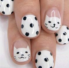 Cute kitty nails.