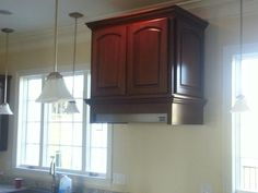 Stined maple hood cabinet