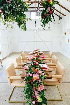 Flower-Filled Wedding Inspiration That's Pretty in Pink #weddingideas #weddingdecor