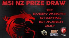 """Introducing the Official MSI NZ prize draw!! be in to win great prizes each month just for owning an official MSI laptop product from Just Laptops. This month of March we have the Thunder X3 TGC12 racing chair to give away!!!! to enter the draw simply email sales@justlaptops.co.nz with the subject line """"MSI Prize Draw (your Just laptops invoice number/trademe reference number)"""" to be in to win. At the end of the month each draw is decided and a winner is chosen from random from the…"""