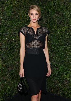 Rosie Huntington-Whiteley at the Chanel pre-Oscars dinner