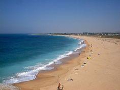 Beach Los Caños de Meca,Costa de la Luz with endless days on the long, unspoiled white Atlantic beaches.