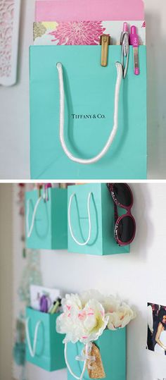 Organize With Shopping Bags - DIY Bedroom Decor Ideas - Click for Tutorial