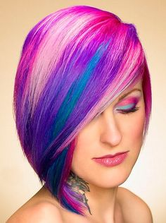 160 best Colored Hairstyles images on Pinterest   Colorful hair ...