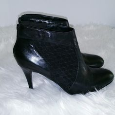 """SALE Nine West Black Ankle Boots Sexy Nine West Black Ankle Boots 3 1/2"""" Heel The sides of these boots are a mesh so slightly see through so cute Nine West Shoes Ankle Boots & Booties"""