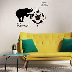ウォールステッカー サッカーボールと象