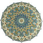 Meri Mosaic Blue Round Rug