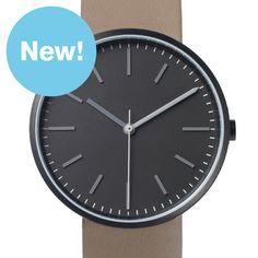 Uniform Wares 104 Series (black/taupe) watch by Uniform Wares. Available at Dezeen Watch Store: www.dezeenwatchstore.com