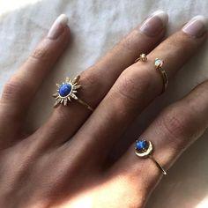 #Crescent #Fire #Moon #nails arcylic #nails cute #nails dark #nails natural #nails spring #Opal #Ring