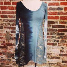 Tie Dye Longsleeve Top w/ lace sides