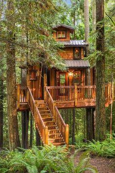 Idée de cabane dans les arbres super sympa pour s'éloigner du bruit des grandes villes et des soucis du quotidien