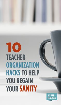10 Teacher Organization Hacks to Save Your Sanity is part of Teacher Organization Hacks - Teaching is a hard job, and much of the stress involved is beyond our control Being organized, however, is one way to reduce stress Teacher Organization, Teacher Hacks, Best Teacher, Organization Hacks, Teacher Stuff, Organizing, Organized Teacher, Teacher Tools, Teacher Resources