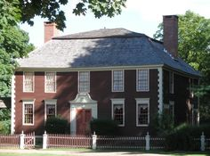 The Jonathan Ellsworth House, on Palisado Ave in Windsor was built in 1784. The hipped roof Georgian house was in the Ellsworth family for several generations and was restored in the 1960s by Albro Case.