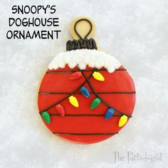 The Partiologist: Snoopy's Doghouse Ornament Cookie Tutorial