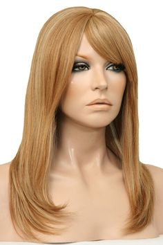 Gorgeous Mariah 100% Remy Human hair Wig with a Mono Top.  The Mariah is a sleek modern sophisticated wig with long layers and a fringe that can be worn swept to the side or cut and worn straight. www.wigsonline.com.au