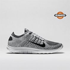 Nike Free 4.0 Flyknit Women's Running Shoe in Gray ❤️ Can't wait til I give birth to start training for the #werunsf Nike Women's San Francisco Half Marathon ✔️