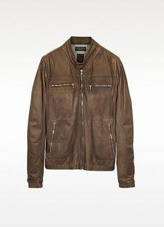 Forzieri men's Brown Motorcycle Jacket  $1225