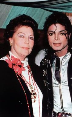 MJ and world famous actress Ava Gardner backstage during the Bad World Tour at Wembley Stadium, London  July 1988