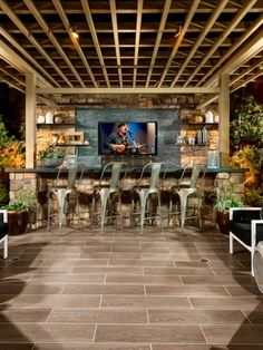 Covered patios offer privacy and protection from the elements while enjoying an outdoor breeze