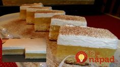 Jemný jablkový koláč s vanilkovým krémom: Tento jablčník má najväčší úspech – tromfne aj tortu! Krispie Treats, Rice Krispies, 3, Desserts, Food, Basket, Tailgate Desserts, Deserts, Essen