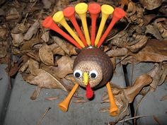 thanksgiving, thanksgiving craft, turkey, turkey craft, holiday craft, craft, crafts, crafting, golfball, golf balls, party favor, party cra...