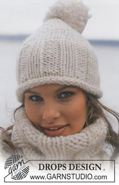 Basic patterns - Free knitting patterns and crochet patterns by DROPS Design Knitting Patterns Free, Knit Patterns, Free Knitting, Baby Knitting, Free Pattern, Bonnet Crochet, Knit Crochet, Crochet Hats, Drops Design