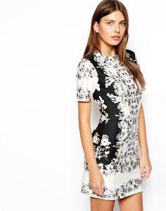 ASOS | ASOS T-Shirt Dress In Mirror Floral at ASOS
