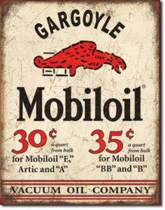 Mobil Gargoyle Auto Gas Filing Station Man Cave Garage Roadside Retro Tin Sign #1897