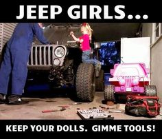 Jeep girls. If JP and I ever have a girl, this will be her. haha