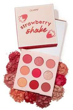 Strawberry shake shadow palette colourpop eyeshadowpalette all of the glossier products you need in your makeup bag glossier glossier balm dotcom glossier makeup kit glossier 2019 best glossier products glossier lip gloss glossier cloud paint Pink Eyeshadow Palette, Blending Eyeshadow, Colourpop Eyeshadow Palette, Pink Palette, Eyeshadows, Morphe Palette, Make Up Palette, Colour Pop, Skin Makeup