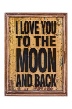 """To the Moon and Back"" Framed Wall Art."